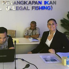 Student tackles human trafficking and illegal fishing in Indonesia internship