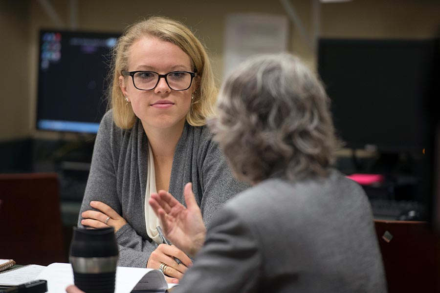 Law students participate in legal clinics and externships at New England Law